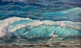 waves study in oil