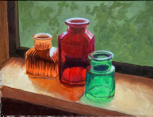 bottle study in oil